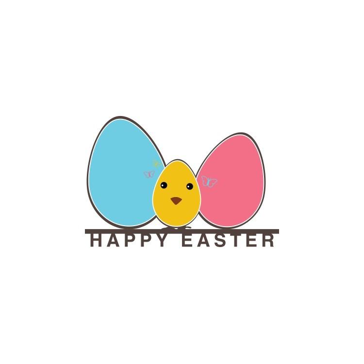 Happy Easter, Πασχαλινά, Αυτοκόλλητα βιτρίνας