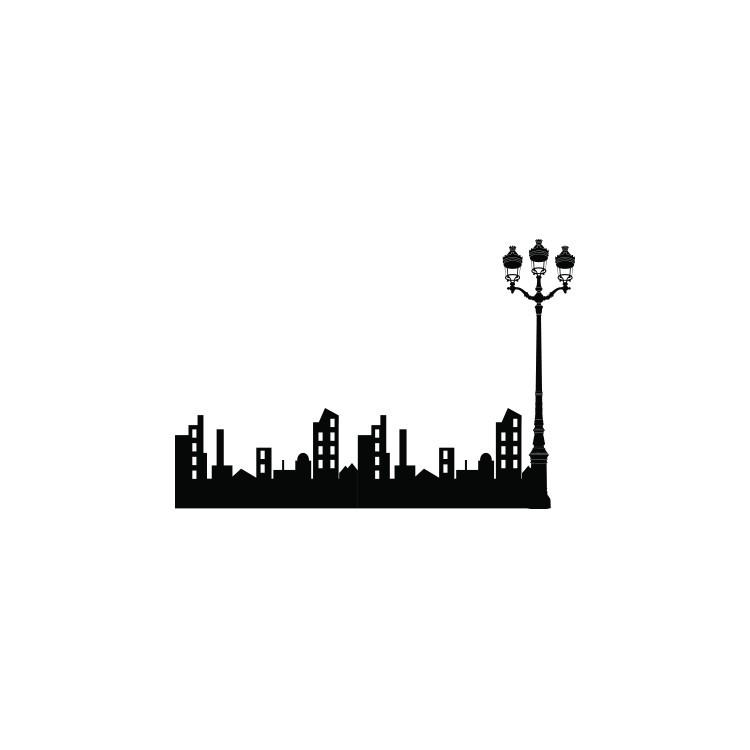 Πόλη με φανάρι, Πόλεις, Αυτοκόλλητα τοίχου