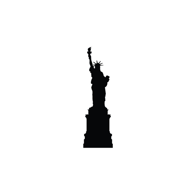 Άγαλμα της Ελευθερίας, Πόλεις, Αυτοκόλλητα τοίχου