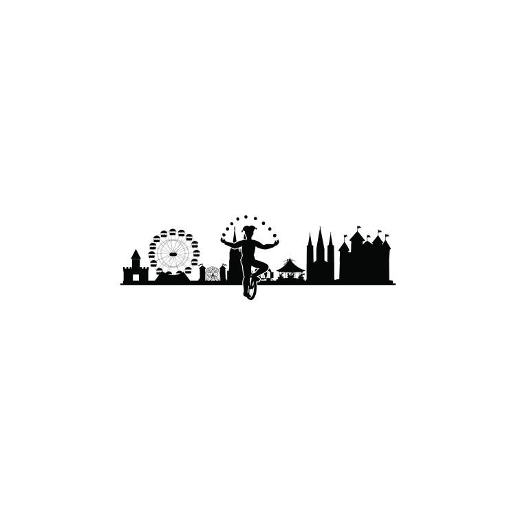 Πόλη με σχήματα, Πόλεις, Αυτοκόλλητα τοίχου