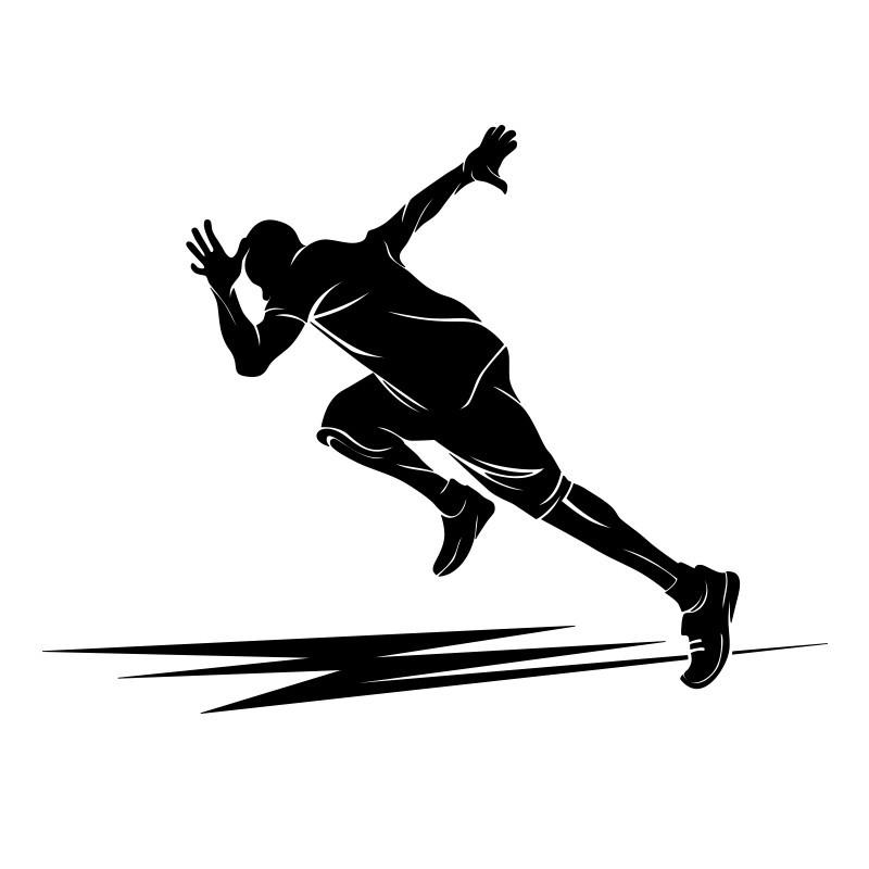 Αθλητής στίβο, Σπορ, Αυτοκόλλητα τοίχου