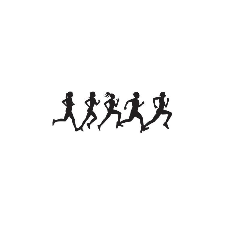 Κορίτσια τρέχουν, Σπορ, Αυτοκόλλητα τοίχου