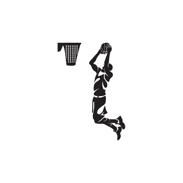 Μπάσκετ, Σπορ, Αυτοκόλλητα τοίχου