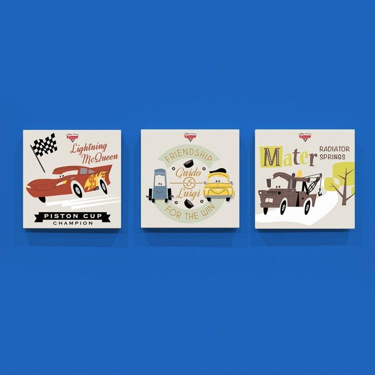 McQueen and his friends!, Παιδικά, Mini Set καμβάς