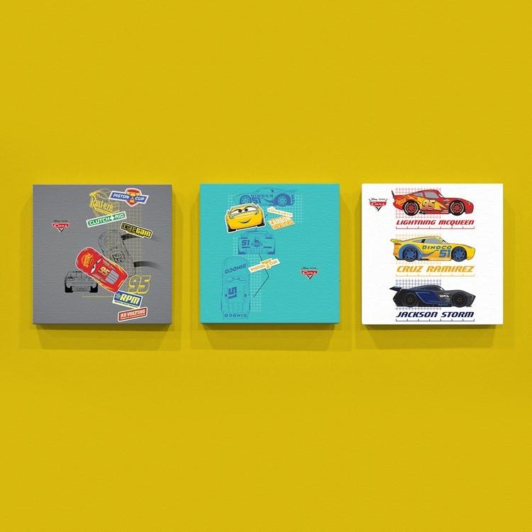 McQueen, Cruz Ramirez, Jackson Storm!!, Παιδικά, Mini Set καμβάς