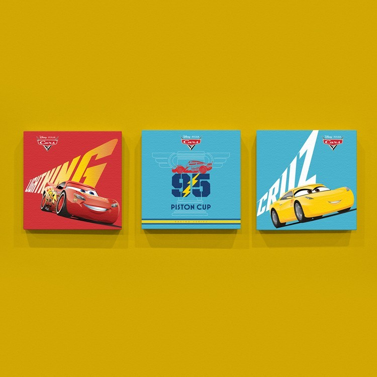 Lighting McQueen!, Παιδικά, Mini Set καμβάς