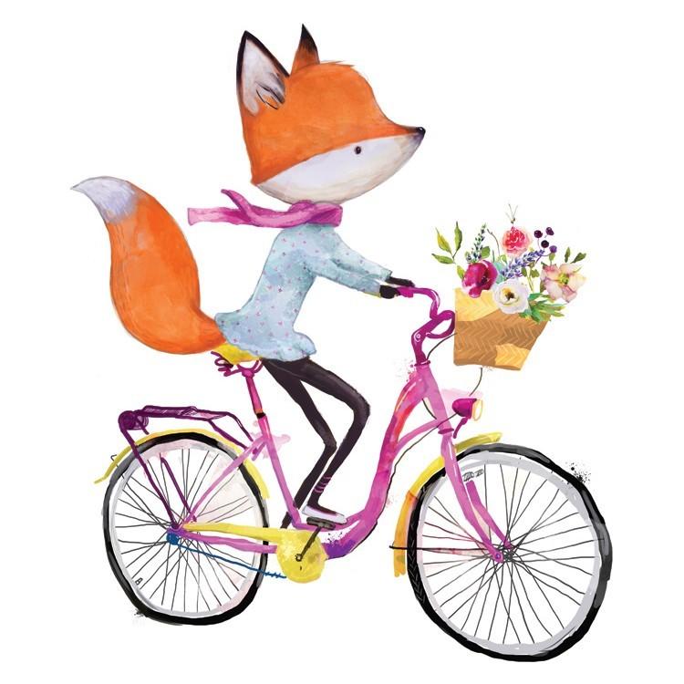 Αλεπού κάνει ποδήλατο, Παιδικά, Πίνακες σε καμβά