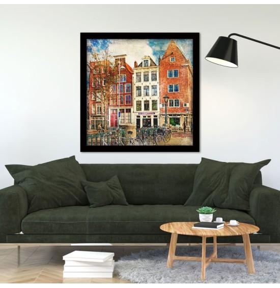 Σπίτια στο Άμστερνταμ, Πόλεις - Ταξίδια, Πίνακες σε καμβά