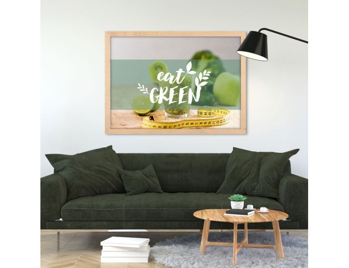 Eat Green, Φαγητό, Πίνακες σε καμβά