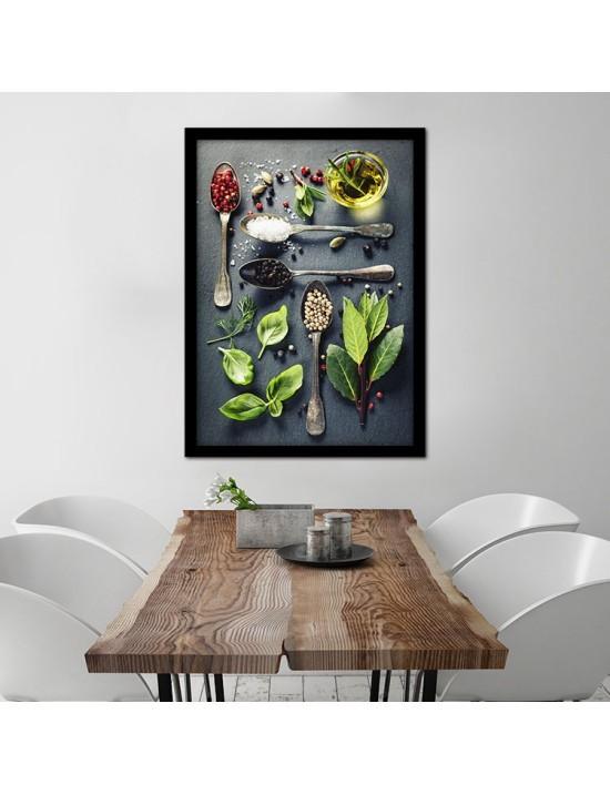 Διάφορα Μυρωδικά, Φαγητό, Πίνακες σε καμβά
