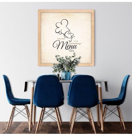 Menu, Φαγητό, Πίνακες σε καμβά