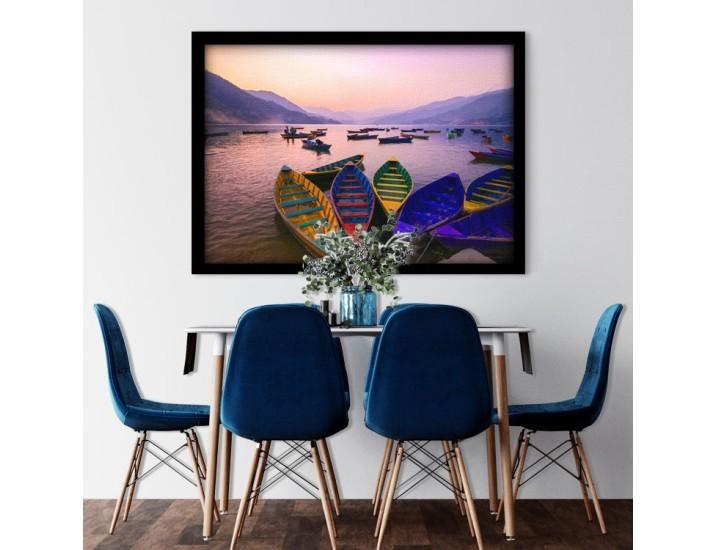 Πολύχρωμες Βάρκες, Φύση, Πίνακες σε καμβά