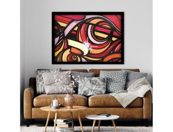 Αφηρημένη τέχνη με έντονα χρώματα, Street art, Πίνακες σε καμβά