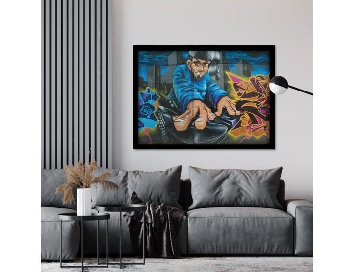 Αγόρι DJ, Street art, Πίνακες σε καμβά