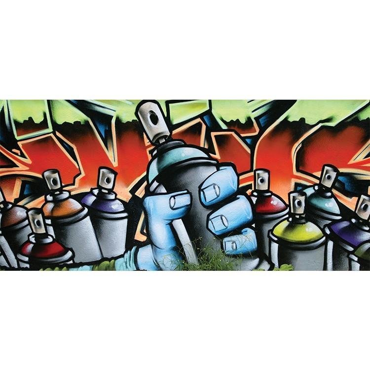 Graffiti πολύχρωμα spray, Street art, Πίνακες σε καμβά