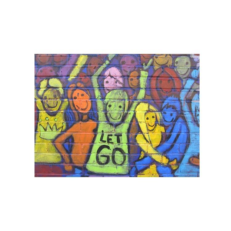 Άνθρωποι που χαίρονται, Street art, Πίνακες σε καμβά