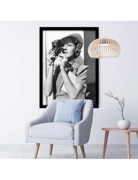 Γυναίκα με Φωτογραφική Μηχανή, Άνθρωποι, Πίνακες σε καμβά