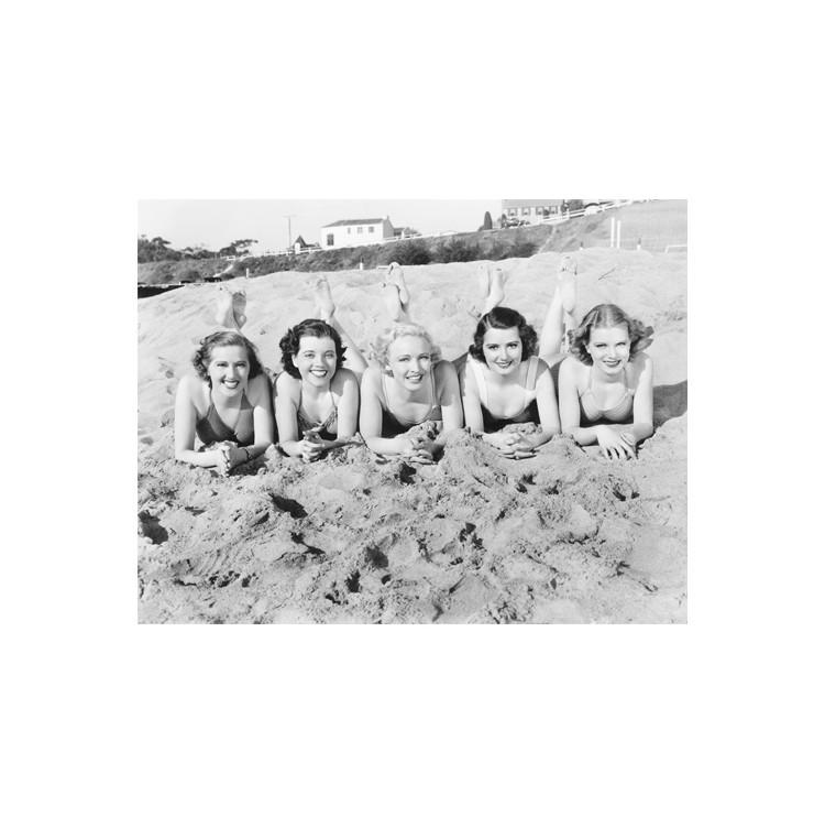 Κορίτσια στην άμμο, Άνθρωποι, Πίνακες σε καμβά