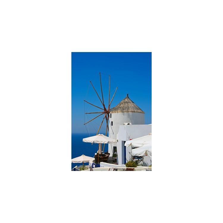 Ανεμόμυλος στην Οία, Σαντορίνη, Ελλάδα, Πίνακες σε καμβά