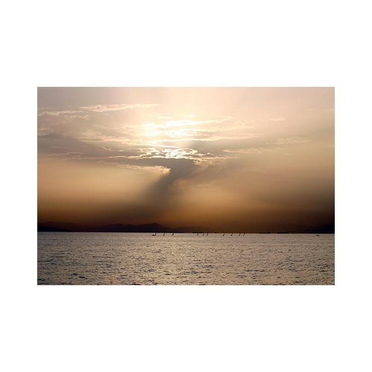 Ηλιοβασίλεμα στην Αθήνα, Ελλάδα, Πίνακες σε καμβά