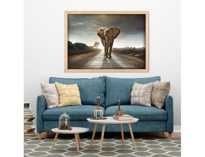 Ελέφαντας που περπατάει, Ζώα, Πίνακες σε καμβά