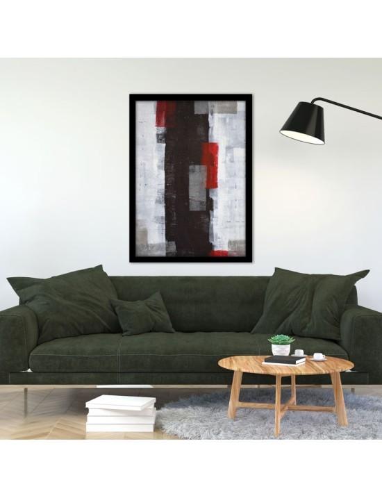 Black Red and Grey, Ζωγραφική, Πίνακες σε καμβά