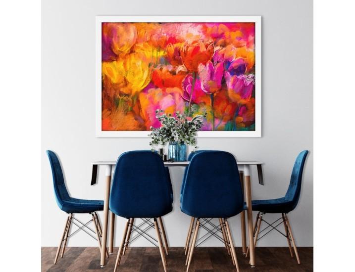 Ζωγραφιά Λουλουδιών, Ζωγραφική, Πίνακες σε καμβά