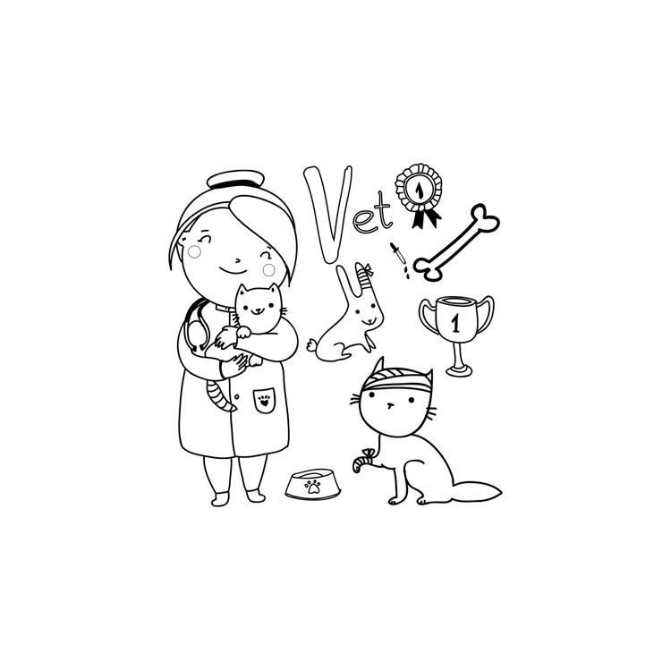 Κτηνίατρος, Μικροί ζωγράφοι DIY, Πίνακες σε καμβά