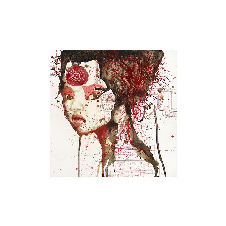 Κόκκινο Πορτρέτο κοπέλας, Ζωγραφική, Multipanel