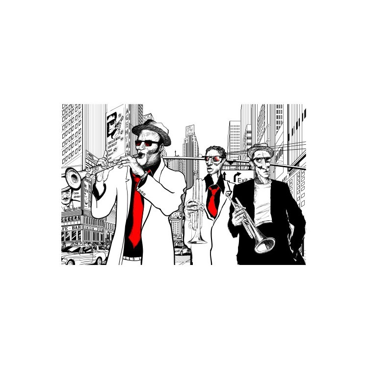 Τζαζ μπάντα, Κόμικς, Multipanel
