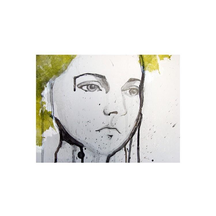 Νεαρή κοπέλα , πορτραίτο, Ζωγραφική, Multipanel