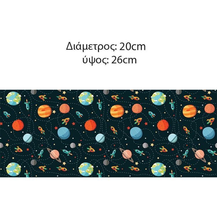 Μοτίβο με πλανήτες, Παιδικά, Επιτραπέζια φωτιστικά