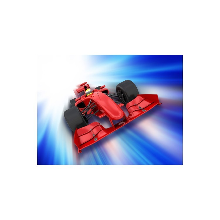 3D  αυτοκινήτο της φόρμουλα 1, Τεχνολογία - 3D, Ταπετσαρίες Τοίχου