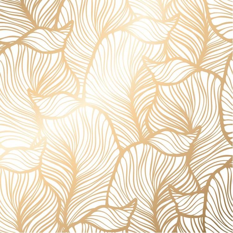 Χρυσό Μοτίβο με Λουλούδια, Μοτίβα, Ταπετσαρίες Τοίχου