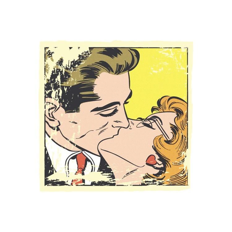Φιλί, Κόμικς, Πίνακες σε καμβά