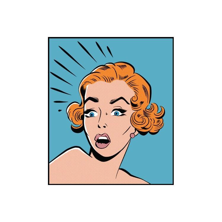 Φοβισμένη γυναίκα, Κόμικς, Πίνακες σε καμβά