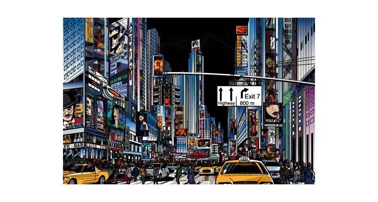 Δρόμος της Νέας Υόρκης, Κόμικς, Αυτοκόλλητα ντουλάπας