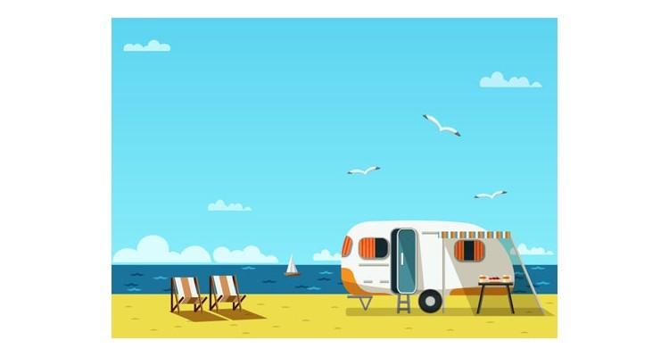 Tροχόσπιτο στην παραλία, Κόμικς, Αυτοκόλλητα ντουλάπας