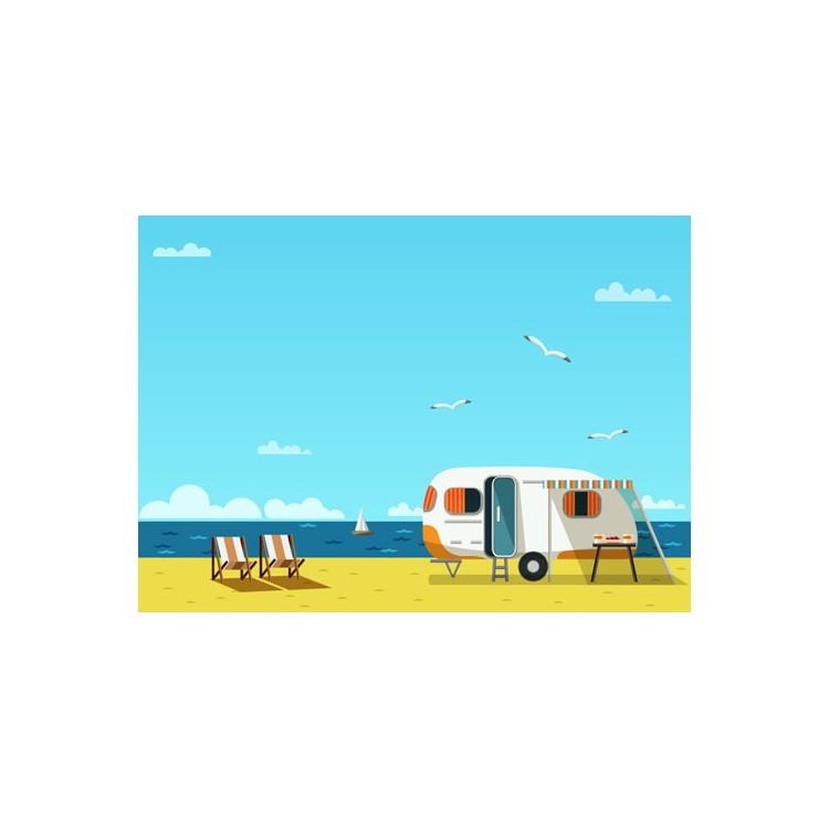 Tροχόσπιτο στην παραλία, Κόμικς, Πίνακες σε καμβά
