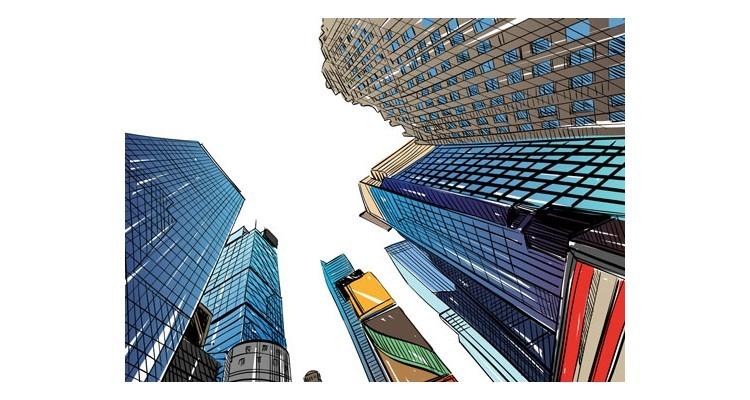 Ουρανοξύστες, Κόμικς, Αυτοκόλλητα ντουλάπας
