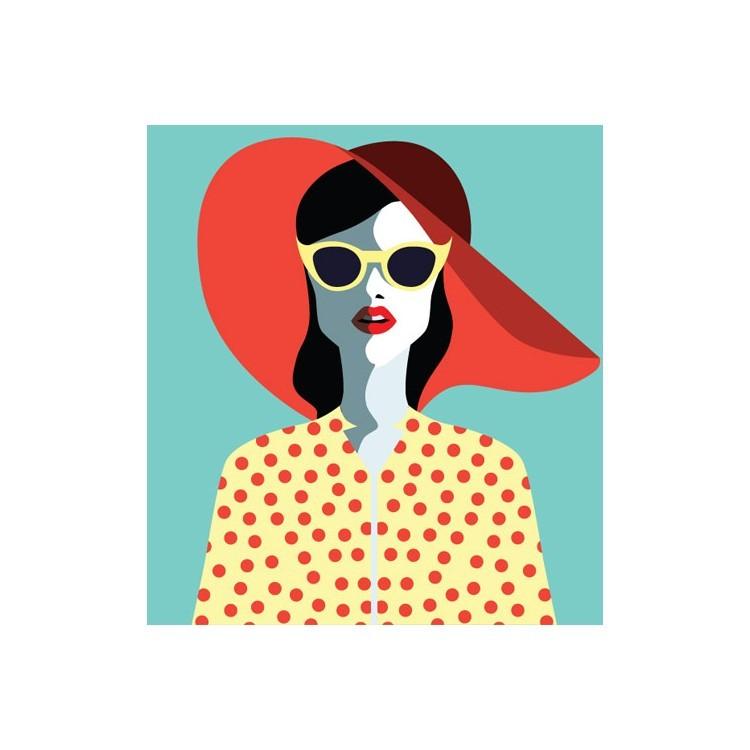 Ρετρό γυναίκα, Κόμικ, Αυτοκόλλητα ψυγείου