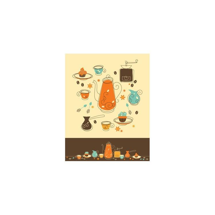 Αντικείμενα καφέ ρετρό, Φαγητό, Ταπετσαρίες Τοίχου