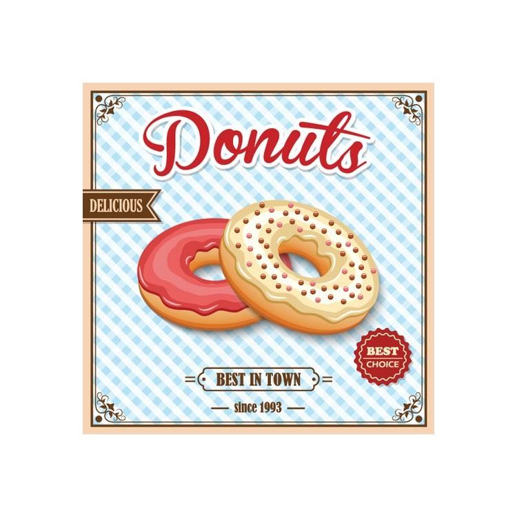 Ντόνατς, Φαγητό, Πίνακες σε καμβά