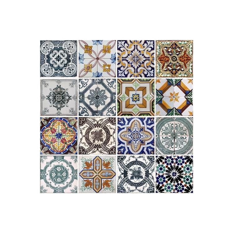 Γεωμετρικά Πλακάκια, Φόντο - Τοίχοι, Αυτοκόλλητα ψυγείου