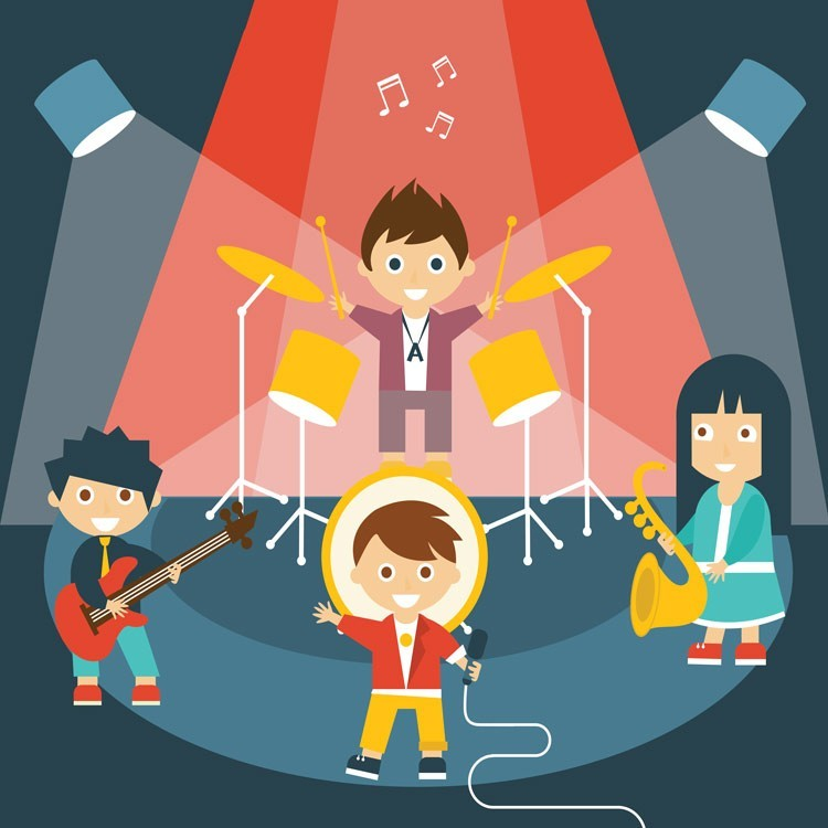 Μουσική συναυλία, Παιδικά, Παραβάν