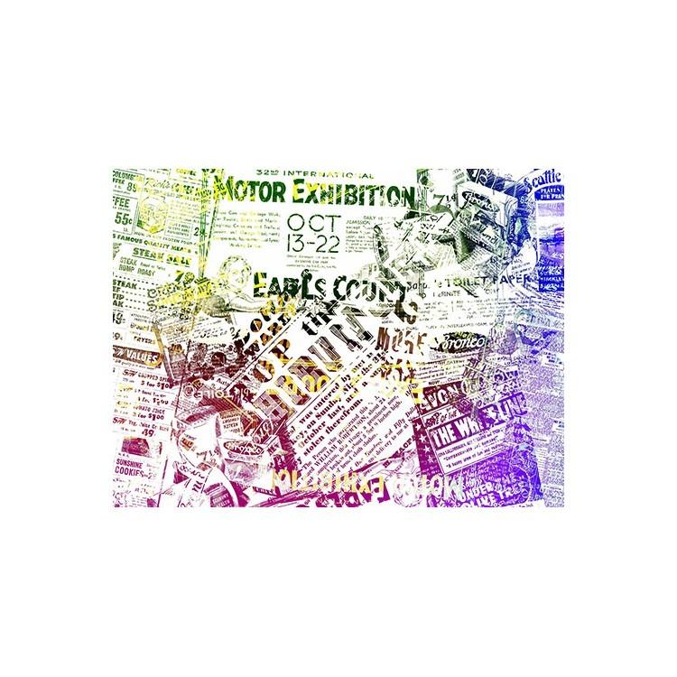 Ρετρό εφημερίδα, Vintage, Πίνακες σε καμβά