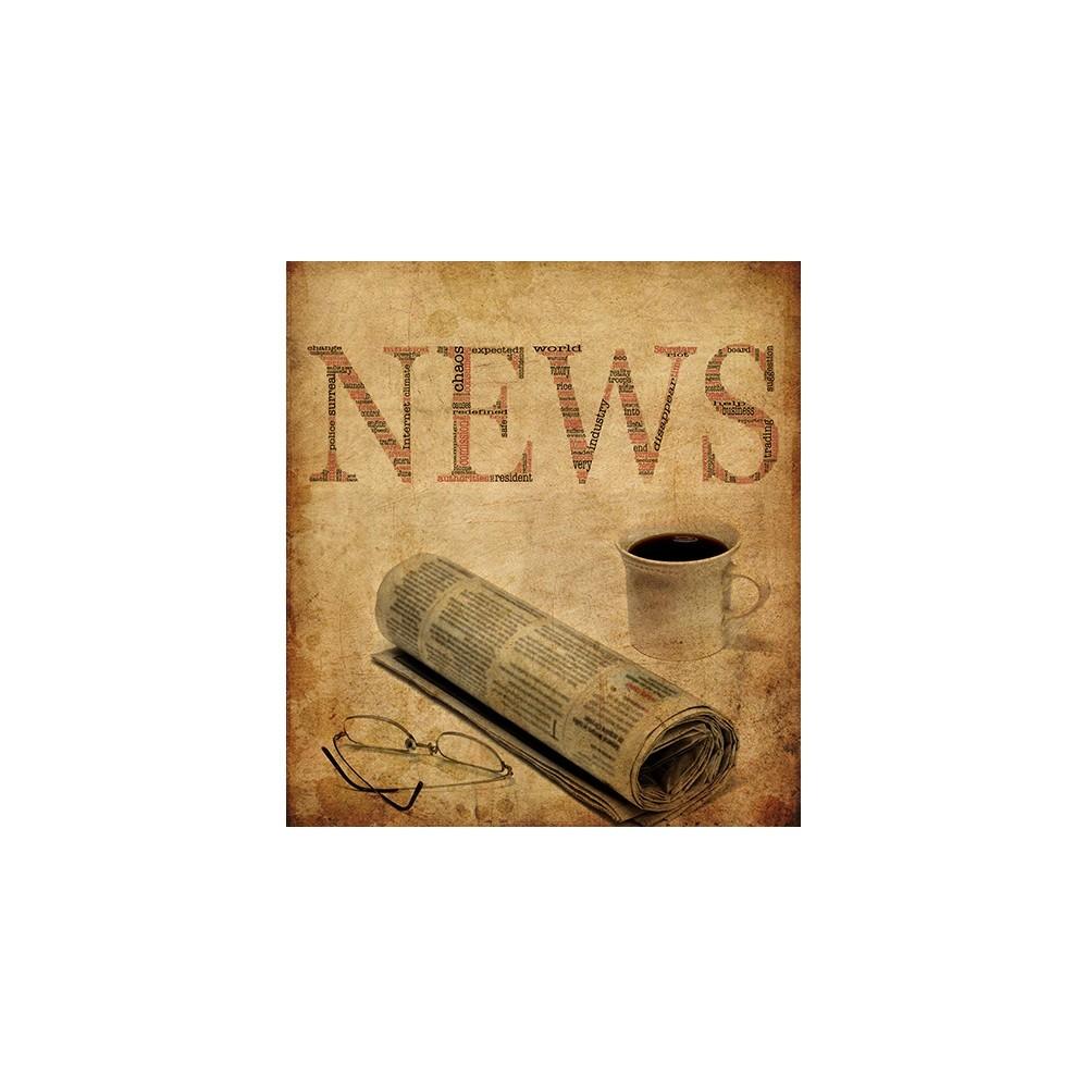 Παλιά Εφημερίδα, Vintage, Πίνακες σε καμβά