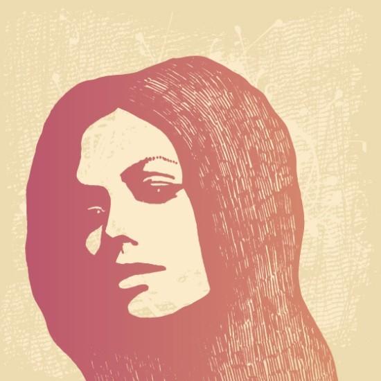 Γυναικείο πρόσωπο, Vintage, Ταπετσαρίες Τοίχου
