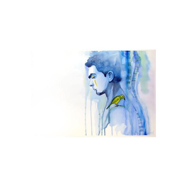 Νέαρος άνδρας, Ζωγραφική, Παραβάν