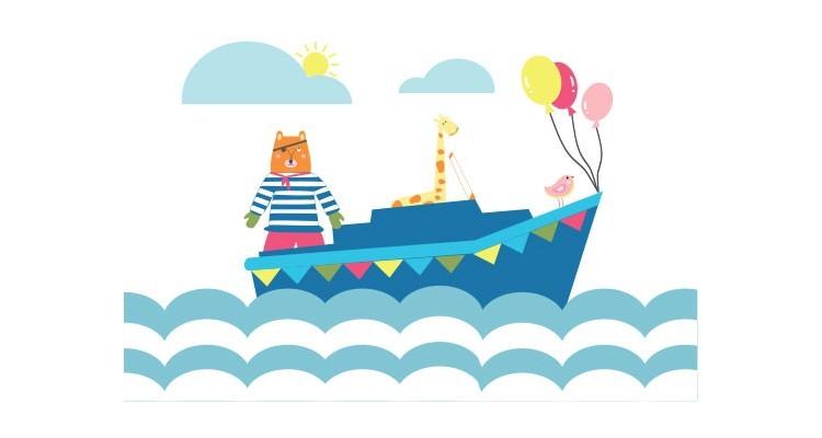 Ζωάκια στην Θάλασσα, Παιδικά, Αυτοκόλλητα ντουλάπας